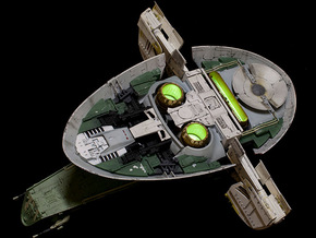 Fine Molds 1/72 Slave 1 Thruster in Frosted Ultra Detail