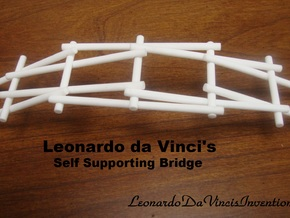 Leonardo da Vinci's Self Supporting Bridge in White Strong & Flexible Polished