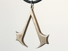 Assassins Necklace Pendant - 1 1/2 Inch in Stainless Steel