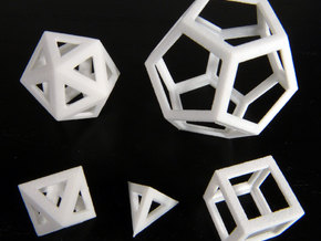 Platonic solids in White Strong & Flexible