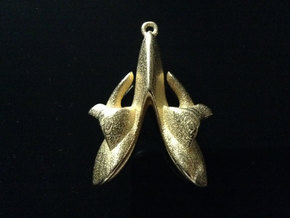 Aiur Pendant  in Polished Gold Steel