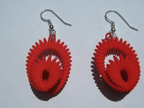 Ellipsoids On Clelie 2 Earrings in Red Strong & Flexible Polished
