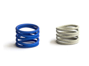Curlicue spiral ring in Blue Strong & Flexible Polished