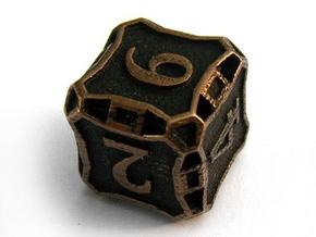 Large Die6 in Stainless Steel