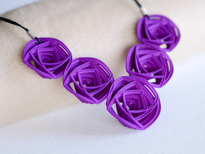 Rose Stripes Necklace in Purple Strong & Flexible Polished