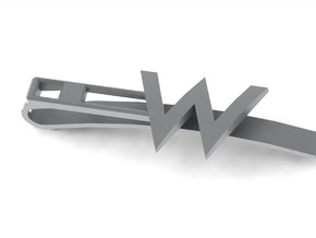 W Tie Clip in Stainless Steel