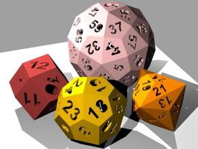 Catalan dice bundle 1 in White Strong & Flexible