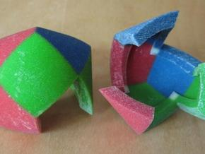 Color Pillowhedron 4cm in Full Color Sandstone