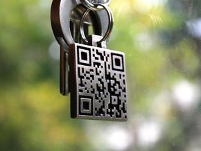 QR steel tag / business card in Stainless Steel