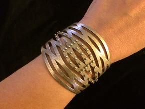 Crisscross Cuff in Stainless Steel