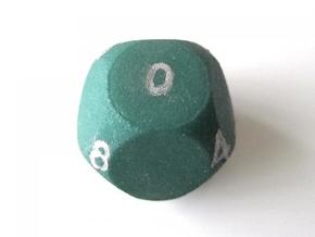 D10 4-fold Sphere Dice in Green Strong & Flexible Polished