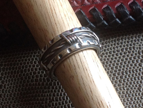 Barbed Wire Ring - Size 91/2  (19.35 mm) in Polished Silver