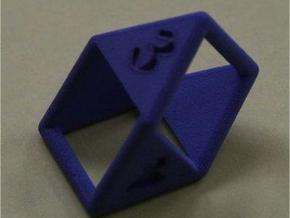 d4 double prism in White Strong & Flexible