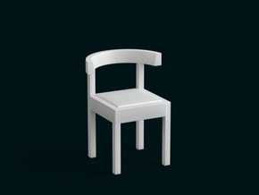 1:10 Scale Model - Chair 04 in White Strong & Flexible