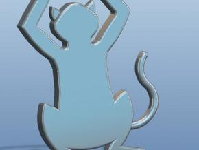Simple Cat Pendant/Charm in Stainless Steel