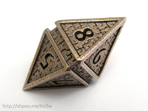 Hedron D8 (Hollow), balanced gaming die in Stainless Steel