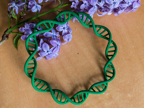 DNA Bracelet (63 mm) in Green Strong & Flexible Polished