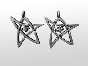 Derleth Elder Sign Earring (Pair) in White Strong & Flexible