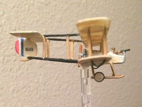 "1/144 Vickers F.B.5 ""Gunbus"" in White Strong & Flexible"