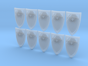 Shield Eagle - 10 15x23mm Shields in Frosted Ultra Detail