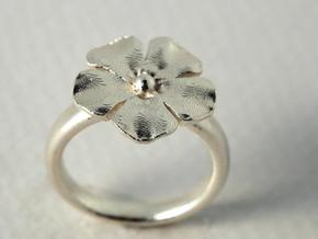 new ring flower S53 in Stainless Steel