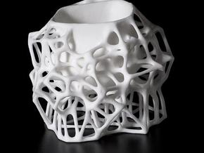 Voronoi Sugar Bowl in White Strong & Flexible
