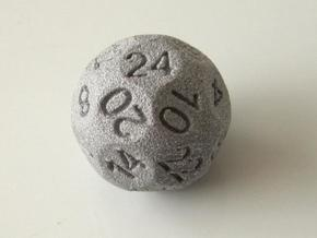 D24 Sphere Dice in Metallic Plastic