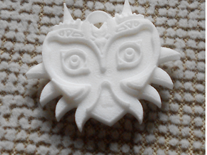 Majora's Mask Pendant (Both sides) in White Strong & Flexible
