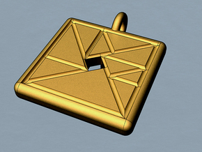trigon varia pendant II in Polished Brass