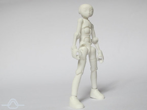 Ersatz MkII action figure Male Body in White Strong & Flexible Polished