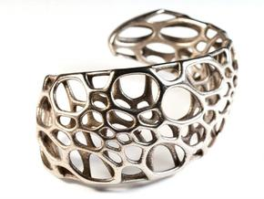 Spiral Cuff (sz S/M) in Stainless Steel