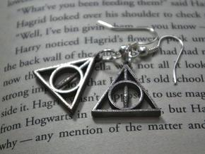 Deathly Hallows Earrings in Stainless Steel