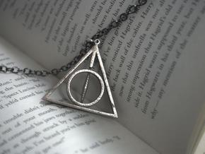 Deathly Hallows Necklace - Rotating Center in Stainless Steel