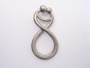 Infinite Embrace Pendant in Polished Nickel Steel
