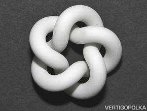 Cinquefoil Knot 2inch in White Strong & Flexible
