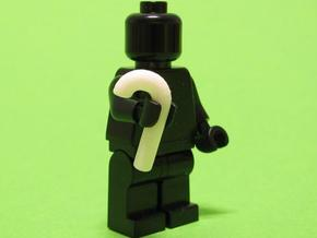 Walking Stick for Minifigs in White Strong & Flexible Polished