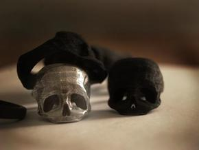 Skull Ring US 7 in Polished Brass