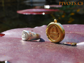 4 Elements - Water Pendant in Raw Brass