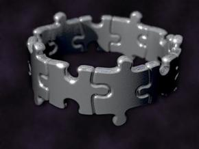 Puzzle Ring 01 size 11 in Raw Silver