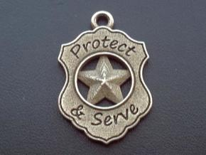 Police Badge Pet Tag / Pendant / Key Fob in Stainless Steel