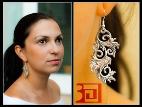 Blossom Earrings in Polished Silver