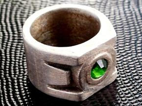 Green Lantern Ring 16.8mm in Stainless Steel