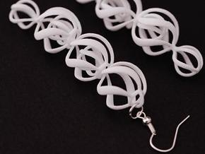 SWIRL - earrings in White Strong & Flexible