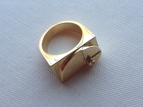 Golden Ratio Ring in Polished Brass