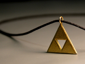 Triforce in Polished Gold Steel