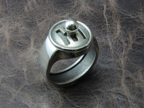 Shifter Ring in Polished Silver