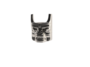 Totem Pole Bear Ring in White Acrylic