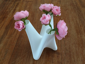 3 in 1 vase small in White Strong & Flexible