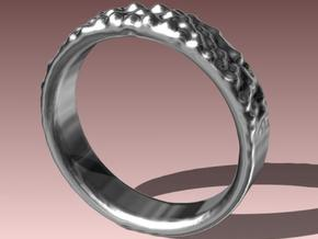 Ring Band - Knobbly in Raw Silver