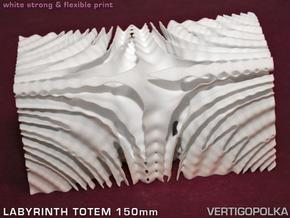 Labyrinth Totem 150mm in White Strong & Flexible
